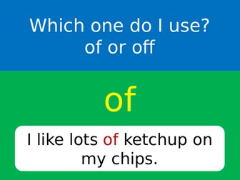 Of or Off? 2 x A4 posters