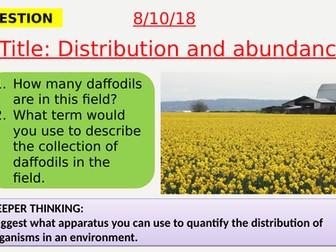 AQA new specification-Distribution and abundance-B16.3