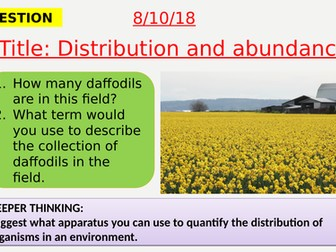 AQA new specification-Distribution and abundance-B16.3