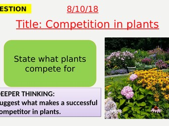 AQA new specification-Competition in plants-B16.5
