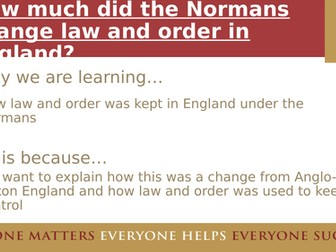 How did the Normans change law and order - KS3 but suitable for AQA 8145