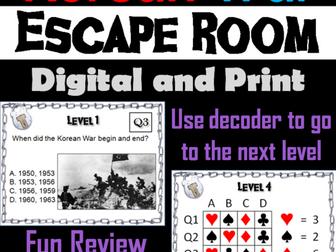 Korean War: Escape Room - Social Studies