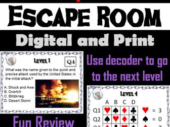 Iraq War: Escape Room - Social Studies