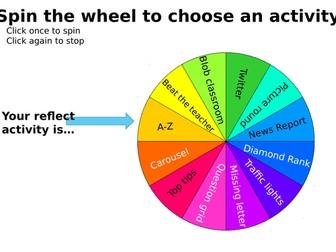 12 reflection activities (tutor time / English)