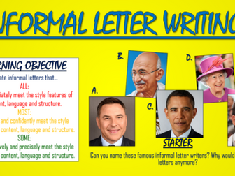 Informal Letter Writing!