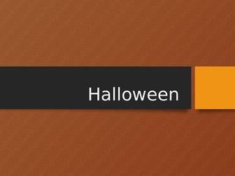 Halloween:  Language analysis, group presentations and creative writing