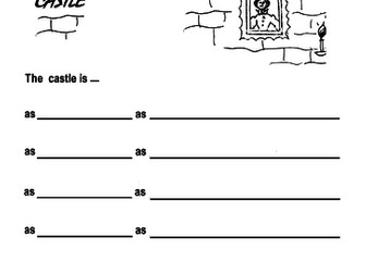 Castle Similes - poetry frame + example sheet