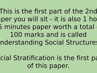 Eduqas GCSE Social Stratification exam technique and mock exam