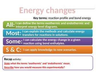 CC15 Energy changes (Edexcel Combined Science)
