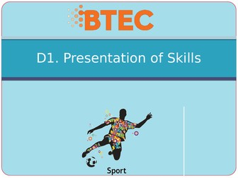 BTEC Sport Level 3 Unit 23 D - Skill Acquisition Powerpoints
