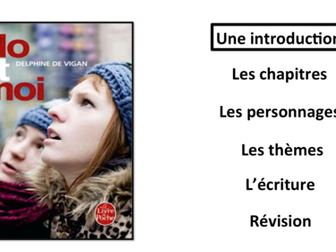 No et Moi- Book Study- Introduction- A Level French