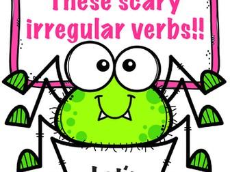 Aaahh! These scary irregular verbs! Teach English verbs with this wonderful worksheet! ESL
