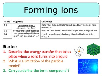 NEW AQA GCSE Trilogy (2016) Chemistry - Forming ions
