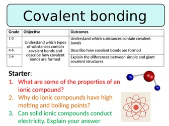 NEW AQA GCSE Trilogy (2016) Chemistry - Covalent bonding