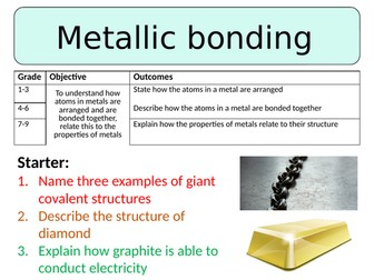 NEW AQA GCSE Trilogy (2016) Chemistry - Metallic bonding and giant metallic structures