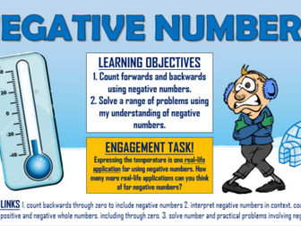 KS2 Negative Numbers!