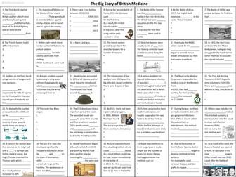 GCSE 9-1 WW1 British Western Front Medicine; The  story so far
