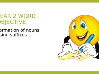 Year 2 SPAG PPT and Assessment Pack: Suffixes