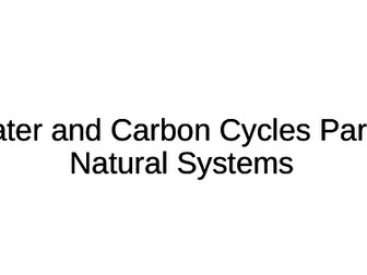 NEW A-Level Geography: Water and Carbon Cycles