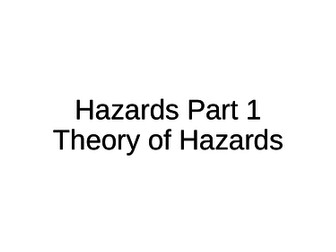 NEW A-Level Geography: Hazards
