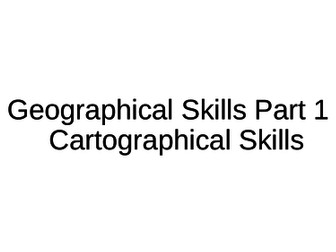 NEW A-Level Geography: Geographical Skills