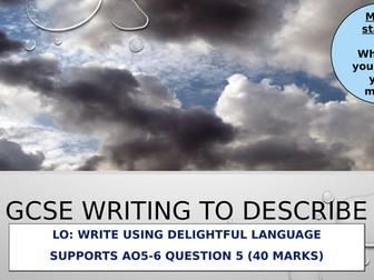 Paper 1 Language The Storm Q5 Writing