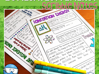 Ionisation Energy Scribble Notes