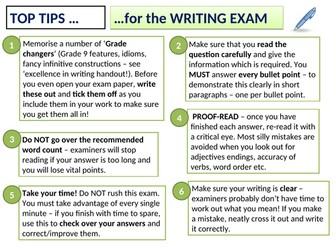 Preparing for writing exam - Spanish GCSE (9-1)