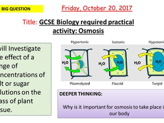 AQA new specification-REQUIRED PRACTICAL 3-Osmosis-B1