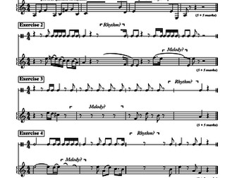 GCSE DICTATION - RHYTHM & MELODY (AoS 2 - Vocal Music - Purcell)