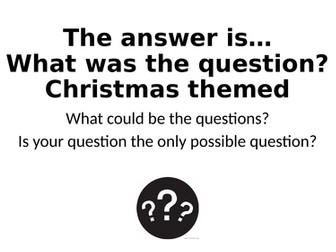 What Was The Question? Christmas Theme