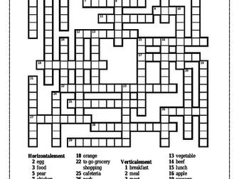 D'accord 2 Unité 1 Leçon A Crossword