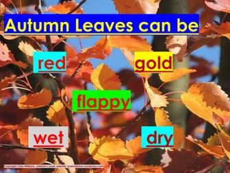 Phonics - Autumn Leaves words - easiest version