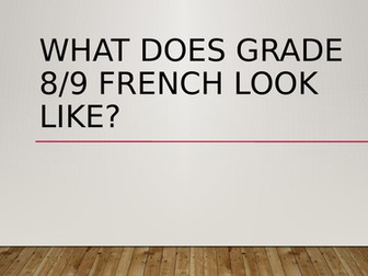 What does grade 8 French look like?