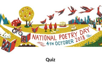 NATIONAL POETRY DAY - QUIZ