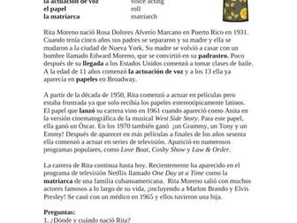 Rita Moreno Biografía: Biography of a Famous Hispanic Actress