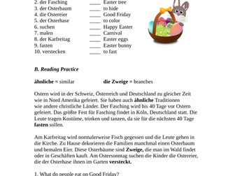 Ostern Lesung - German Easter Reading