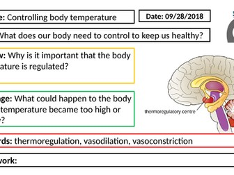 AQA GCSE Biology New Specification - B5 Controlling body temperature