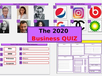 The  2020 Business Quiz
