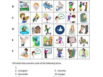 Activités (Activities in French) Find it Worksheet