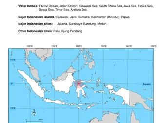 Sulawesi Earthquake and Tsunami 2018 - worksheets