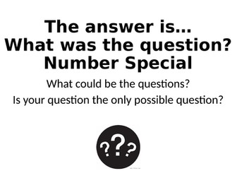 What Was The Question? - Number Special