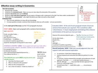 Structure Scaffold for A Level Economics Essays
