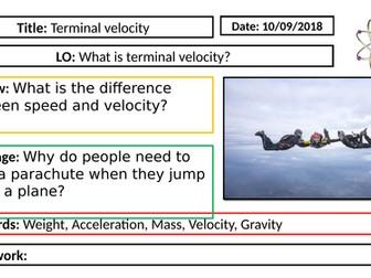 AQA GCSE Physics New Specification - P5 Terminal velocity