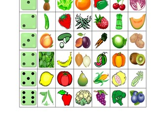 Fruits and Vegetables Dice game