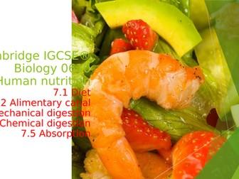 Cambridge IGCSE® Biology 0610, 7 Human nutrition