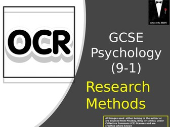 OCR GCSE Psychology (Papers 1 and 2) Research Methods