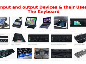 Input and Output devices and their uses