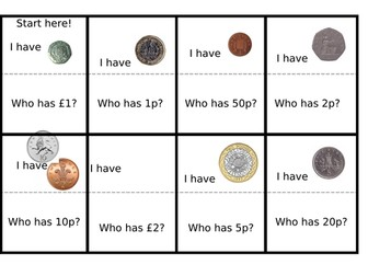 Coins Loop Card Game