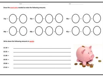 money ks1 ks2 bundle by teach4uresources teaching resources. Black Bedroom Furniture Sets. Home Design Ideas